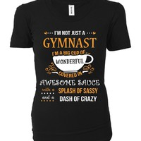 I'm Not Just A Gymnast Awesome Sassy Crazy - Ladies T-shirt