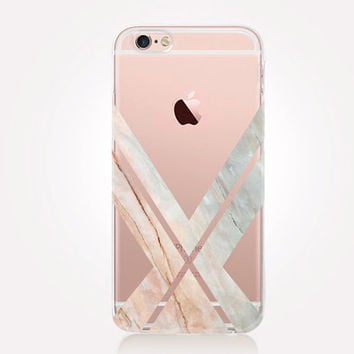 Transparent Art Deco Marble iPhone Case- Transparent Case - Clear Case - Transparent iPhone 6 - Transparent iPhone 5 - Samsung S7 - Gel Case
