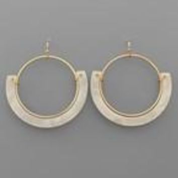 Acrylic Curved Bar & Circle Earrings