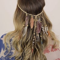 Boho Feather Head Wrap