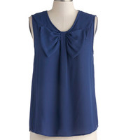 ModCloth Mid-length Sleeveless Home on the Hydrangea Top