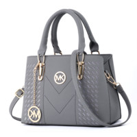 MK Michael Kors Women Fashion New Leather Shopping Handbag Shoulder Bag Gray