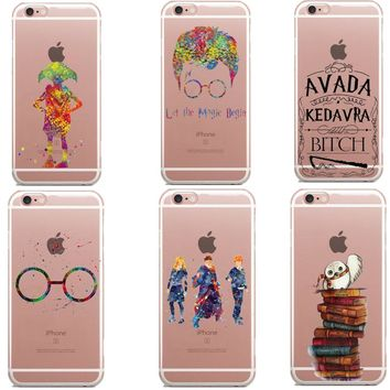 Owl Harry Potter Book Watercolor Art Clear Soft silicone TPU Phone Case  Cover For iPhone SE 8a93ef4de1