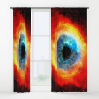 The Eye of Evil, demonic looking galaxy, nebula, beauty of deep space, rich colors Window Curtains by Peter Reiss