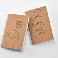 Set of 2 To-Do Mini Journals / Pocket Journals: Forget Me Knots Notebook Collection