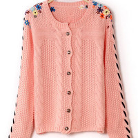 @Free Shipping@ Women Knitting Pink Sweater One Size omss003p from Voguegirlgo