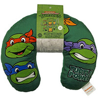 "Nickelodeon Teenage Mutant Ninja Turtles Retro ""Heads"" Travel Neck Pillow"
