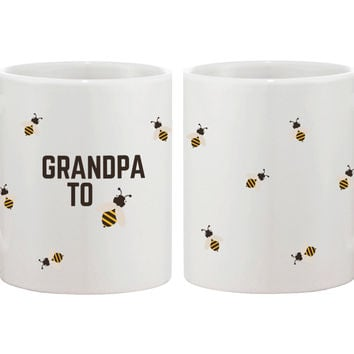 Grandpa To Bee Funny Mug Cup- Cute Design Printed Best Gift For Grandfather
