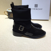 Givenchy Leather Flat Ankle Boots