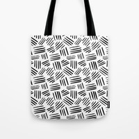 black mudcloth Tote Bag by Sylvia Cook Photography