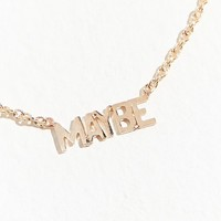 May Martin Maybe 14K Gold Necklace | Urban Outfitters