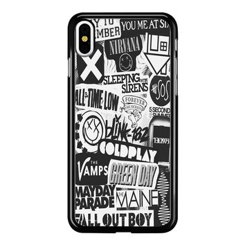 Band Collage 001  iPhone X Case