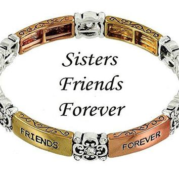 DianaL Boutique Sisters Friends Forever Bracelet Elastic Stretch Gift Boxed