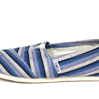 Toms Women's Classic Blue Strip Casual Shoes