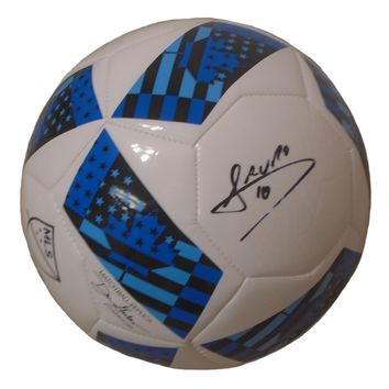 Mauro Diaz Autographed Adidas MLS Logo White Soccer Ball, Proof Photo