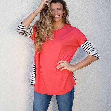 Reaching For You Top - Coral