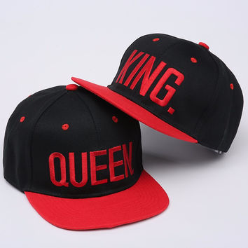 KING or QUEEN Embroidery Snapback Hat