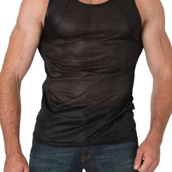 Timoteo Black Covert Harness Tank Top