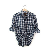 Vintage Plaid Flannel / Grunge Shirt / Button up shirt / Dickies