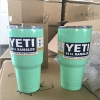 2016 Newest 30oz Green color YETI Coolers Rambler Bilayer Vacuum Insulation Cup Tumbler Mug