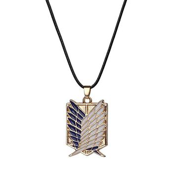 Cool Attack on Titan 10pcs/Lot Hot Selling Anime  Necklace Giant Legion Flag Cosplay Statement Jewelry Necklace AT_90_11