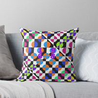 '1968 POP DOTS 3' Throw Pillow by IMPACTEES