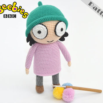 Cbeebies Sarah Soft Toy From Sarah And Duck, CROCHET PATTERN Amigurumi