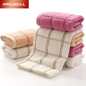 Jacquard Plaid 34*76 cm Soft 100%Cotton Terry Hand Towels for Adults Decorative Face Bathroom Hand Towels Toallas de Mano