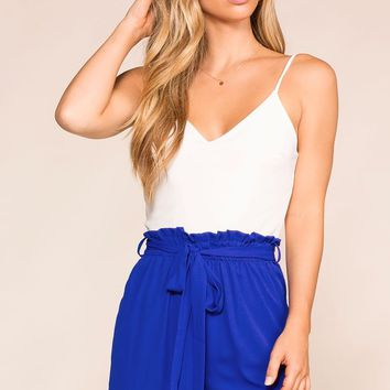 Hey Hi Hello Royal Blue Romper