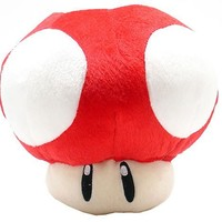 MoralBelief Super Mario Brothers Red Mushroom 8-inch Plush