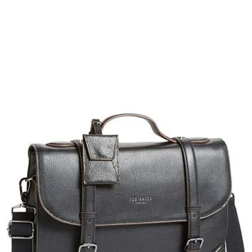Men's Ted Baker London 'Lextons' Leather Messenger Bag