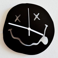 Nirvana Smiley Silhouette - Wall Clock