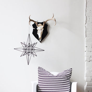 Moravian Star Himmeli / Modern Hanging Mobile / Geometric Sculpture