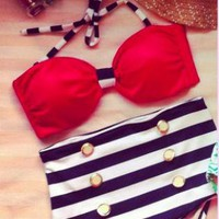 Red, White and Blue Vintage Inspired Bathing Suit