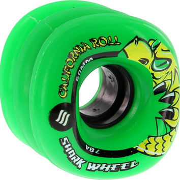 Shark California Roll 60mm 78a Green Longboard Wheels