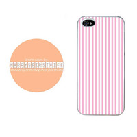Pink and White Lines iPhone 4/4s 5/5s/5c/6/6 plus iPod 4/5 Case