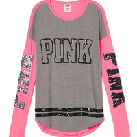 Bling Long Sleeve Tee - PINK - Victoria's Secret