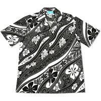 groovy grey hawaiian cotton shirt