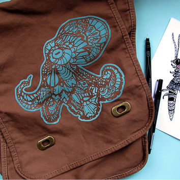 Octopus Zentangle Field Bag