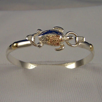 Cape Cod Convertible Turtle Bracelet Made out of 14k Gold and Sterling Silver