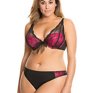 Lace Demi Bra & Thong panty set | Lane Bryant