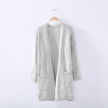 Knit Tops Korean Women's Fashion Sweater Jacket [8422523713]