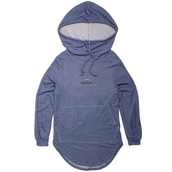 Gracious x Barth NY Oversized French Terry Hoody Blue