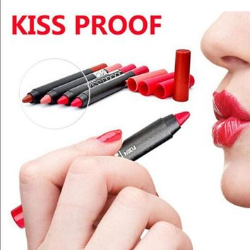 PEAPUNT Menow Brand Kiss Proof Batom Matte Lipstick Makeup Waterproof Lip Pencil For Sexy Women Lip Stick Hot Sale 19 Colors