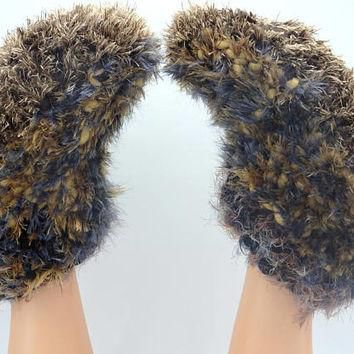 Warm guest slippers chunky boots acrylic socks gift for best friend Winter fashion Xm