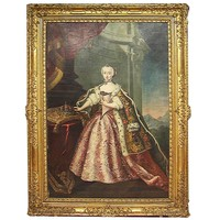 """""""Maria Theresa of Habsburg"""" - Oil Painting by Alessandro Longhi, Venice, 1760s"""