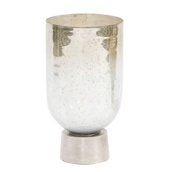Round Grotto Glass Footed Vase - Small