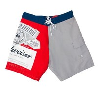 Budweiser Men's Two-Tone Grey Board Shorts