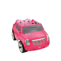 Power Wheels Fisher-Price Barbie Cadillac Hybrid Escalade EXT - Pink - Power Wheels (Fisher Price) 1008812 - 5 - 7 Years - FAO Schwarz®