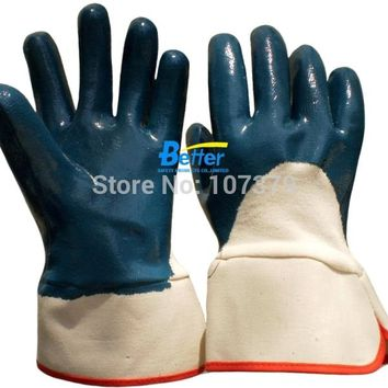 Work Gloves Heavy Duty Cotton Jersey With Nitrile Coated Safety Glove